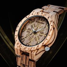 BOBO BIRD relojes de madera con patrón grabado para hombre, reloj elegante de lujo, correa de madera, relojes de diseño en Caja de regalo de madera