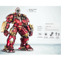Comicave 1/12 Scale Iron Man Mark XLIV Hulkbuster MK44 Diecast Figure Toys With LED Collectibles Accessories Gifts Dolls
