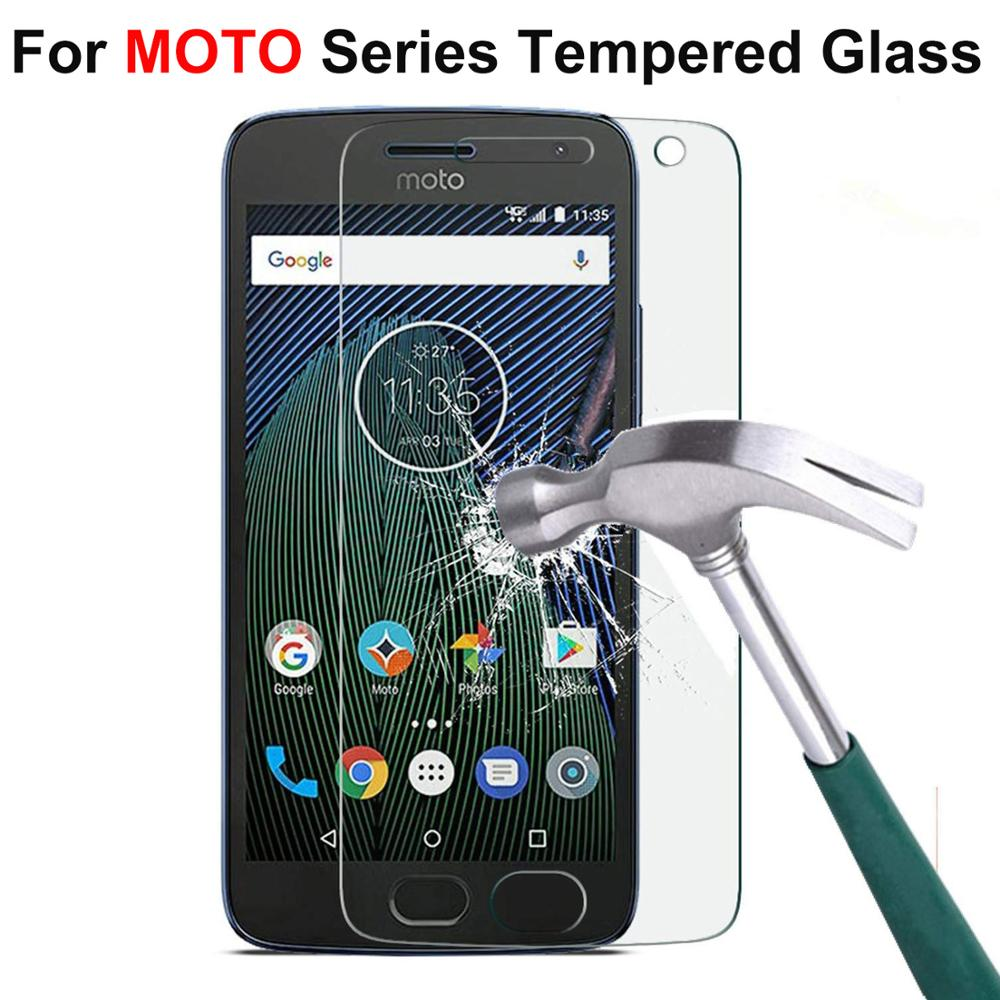 Tempered Glass For Motorola Moto E5 E6 G5 G5S G6 G7 Play Screen Protector For Moto E4 E5 G6 PLUS G7 Power Protective Film Glass image
