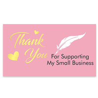 10-30 sztuk różowy dziękuję za zamówienie wizytówki zakupy zakup dzięki kartka z życzeniami karta uznania dla małych firm