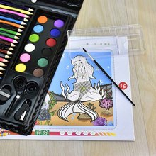 150 Pcs/Set Drawing Tool Kit with Box Painting Brush Art Marker Water Color Pen Crayon Kids Gift GY88