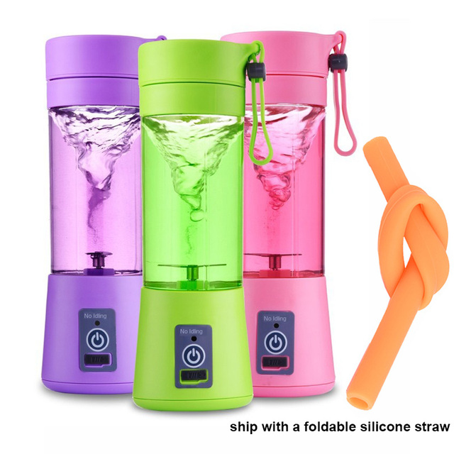 Multi Functional Mini Portable 6 Blades Electric Juicer Mixer USB Rechargeable Household Juice Blender Fruit Cooking Machine 1