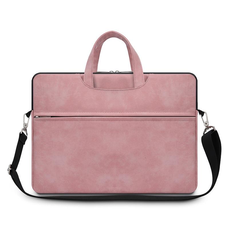 Pure Color Business Laptop Bag Flat Storage Multi-functional Matte Briefcase Men Women