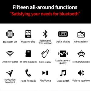 Image 2 - Bluetooth 5.0 Receiver Transmitter LED Car FM Modulator Card Reader 3.5mm AUX Jack RCA USB Wireless Audio Adapter Handsfree Mic