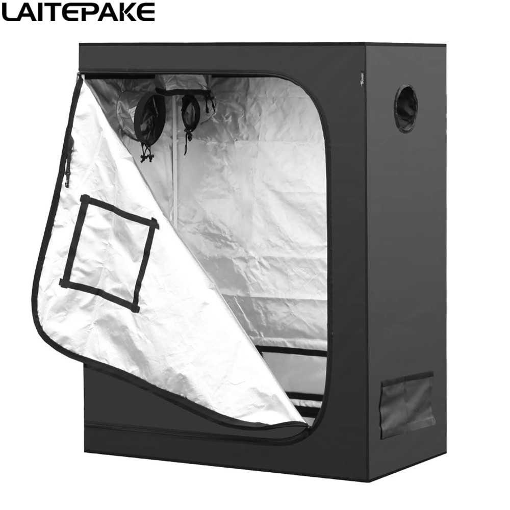 Новый комнатный шатер для Гидропоника 40/50/60/80/100/120 см, шатер для выращивания 600D, светоотражающий майлар, коробка для выращивания растений, св...