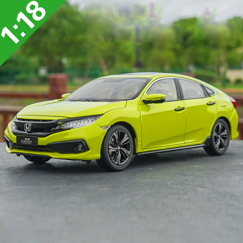Original Box 1:18 High Meticulous Honda 2019 CIVIC Alloy Model Car Static Metal Model Vehicles For Collectibles Gift
