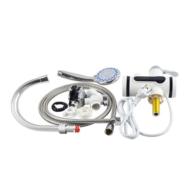 ATWFS Мгновенный водонагреватель, кран для бойлера, нагрев ванной, горячая вода, душ, электрический нагреватель без резервуара 220 В