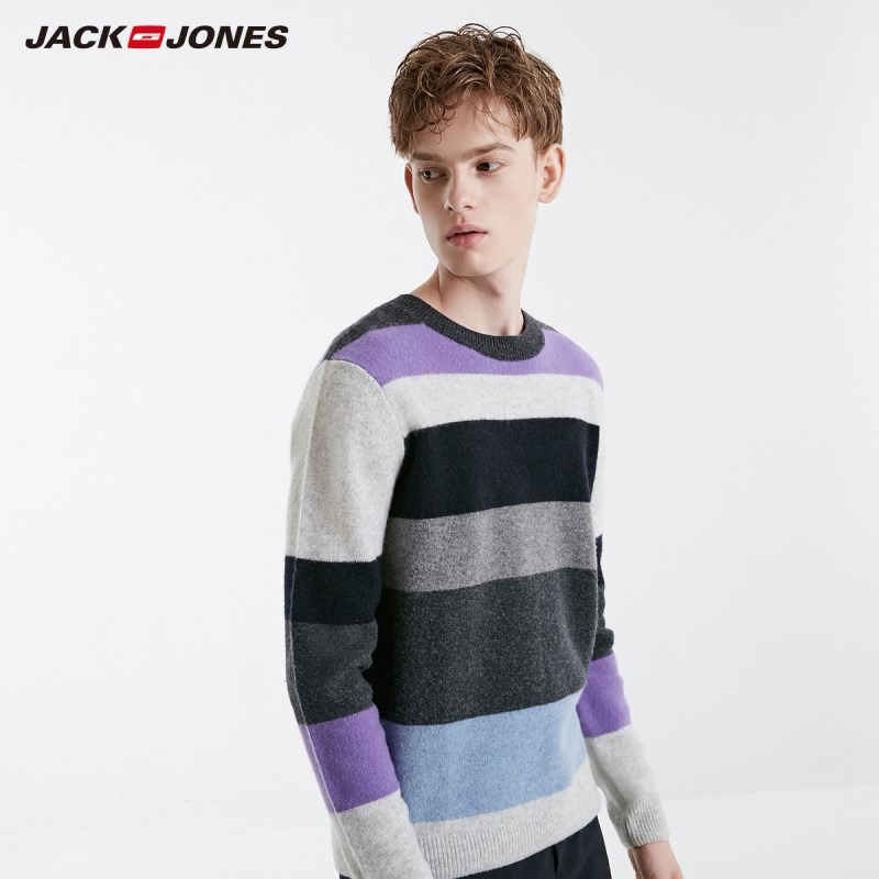 JackJones Men's Colourful Striped Sweater Pullover Top Menswear 219125503
