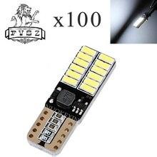 100 stücke T10 LED W5W 12V Von 4014 Canbus Auto Lampe 24 SMD 6500K Großer Verkäufer Licht emittierende Dioden Unabhängige Birne Produto
