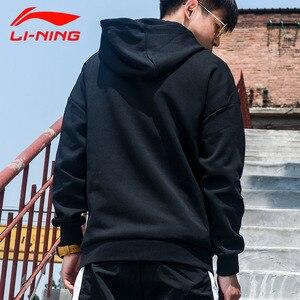 Image 2 - Li Ning Men Wade One Last Dance Hoodie Loose 65% Cotton 35% Polyester LiNing li ning Comfort Sports Tops Hoodies AWDP497 MWW1596