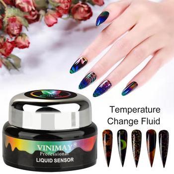 Uñas de 3ml líquido termocrómico esmalte de Gel de cristal cambio de color de temperatura remojo de Gel anillo de humor pigmento pintura uñas calcomanías