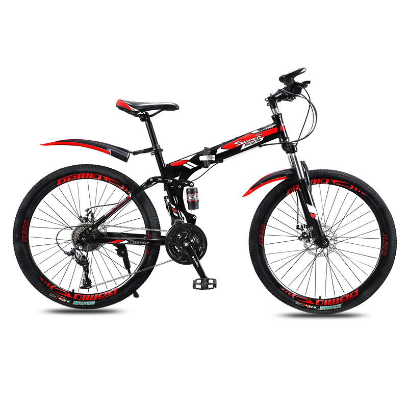 Folding Mountain Bike Bicycle Men And Women Adult Variable Speed Double Shock Absorption Adult Bicycle Off Road