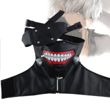 Halloween Mask Ghost Mask Tokyo Ghoul Mask Gold Wood Zipper Mask Mask Shi Mask Cosplay Horror Mask Festival Play Mask Rubber Mas femskin mask