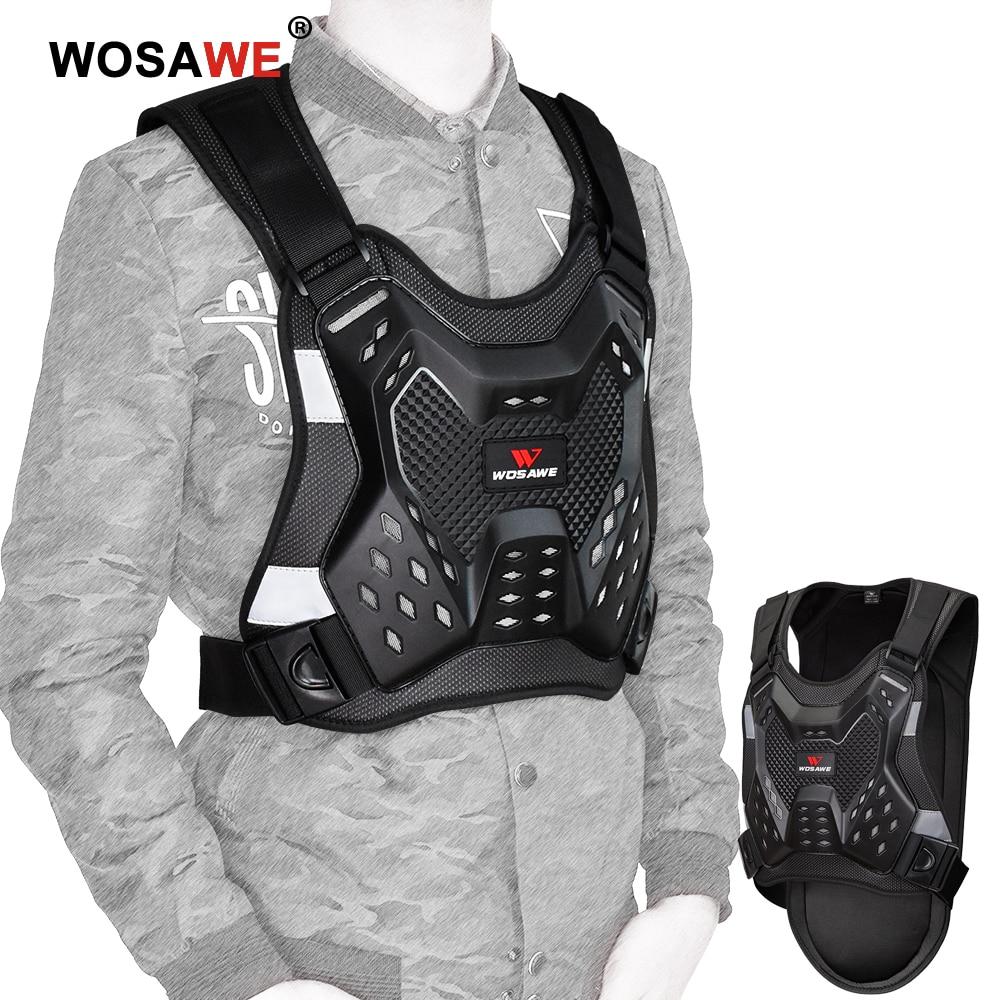 Армированный мотоциклетный жилет WOSAWE для защиты спины для взрослых мужчин защита для позвоночника груди MTB Мотокросс защитный жилет для го...