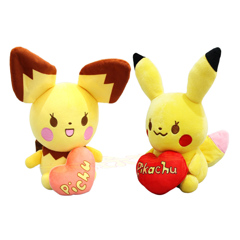 takara-tomy-plush-doll-font-b-pokemon-b-font-soft-toys-stuffed-love-pikachu-raichu-kids-gifts