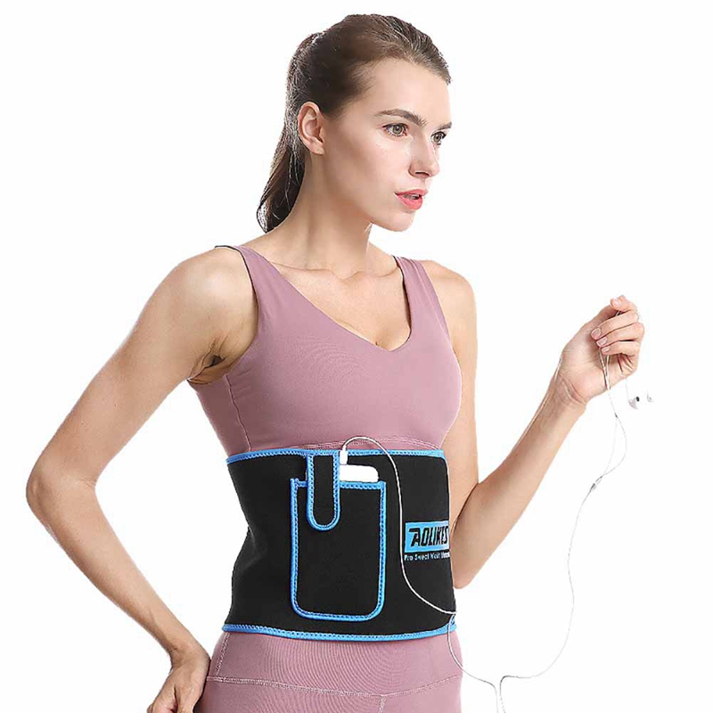 Women Adjustable Waist Support Belt With Pocket Thermal Sweating Lumbar Warmer Protection Trainer Wrap