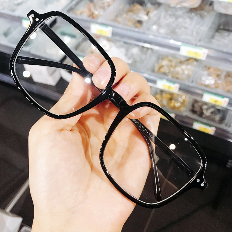 Retro Computer Spectacles Clear Glasses Frame Women Men  Transparent Lens Myopia Optical Eyeglasses Oversized Square Frames