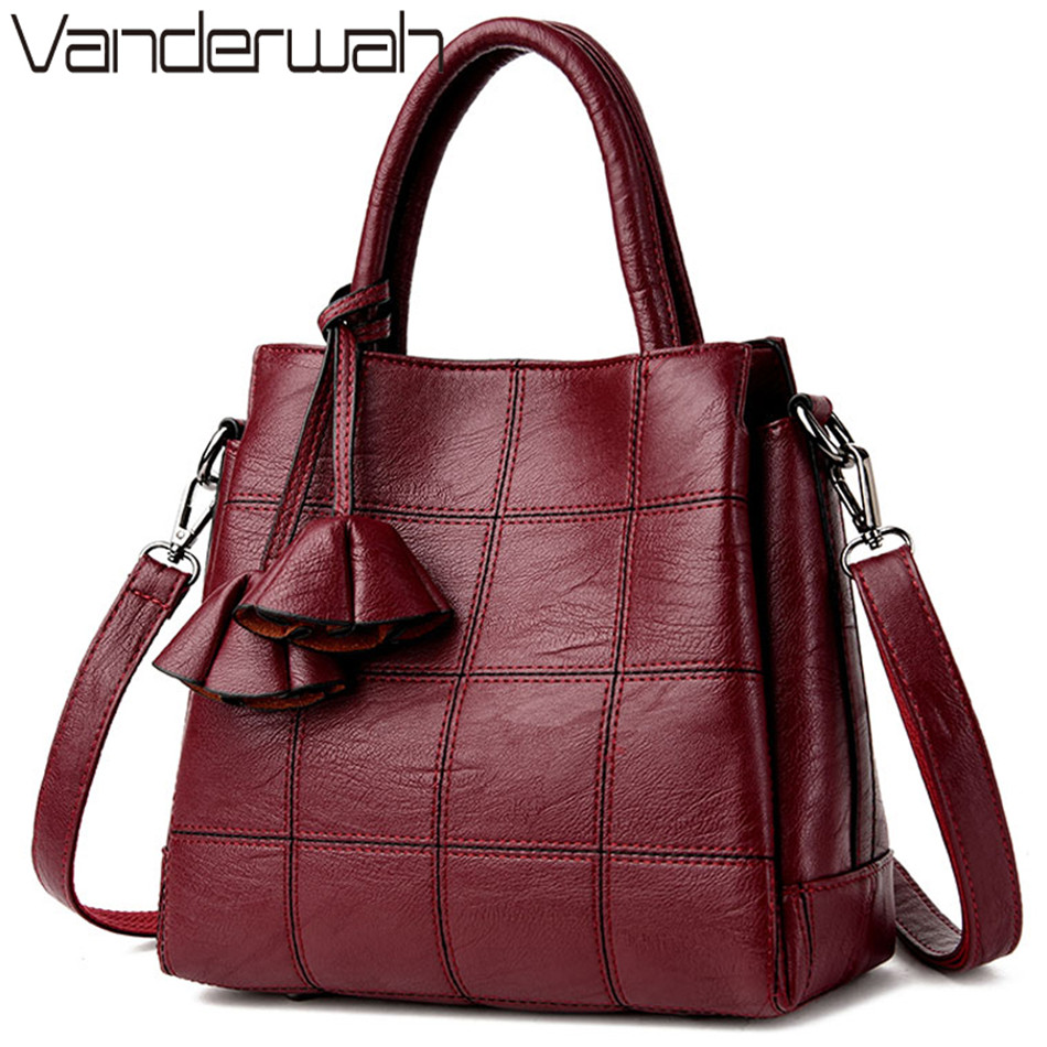 White Leather Luxury Handbags Women Bags Designer Handbags High Quality Casual Tote Bags For Women 2019 Shoulder Crossbody Bag