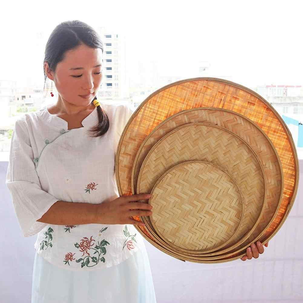 Mão-tecido de bambu peneira pintados à mão jangada de bambu decorativo secagem pólo de bambu decoração da loja para casa