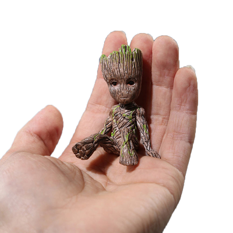 Marvel  Guardians Of The Galaxy 2 Groot Grout Sitting Collectible Anime Toy PVC Cartoon Mini Action Figure Doll Toys Model