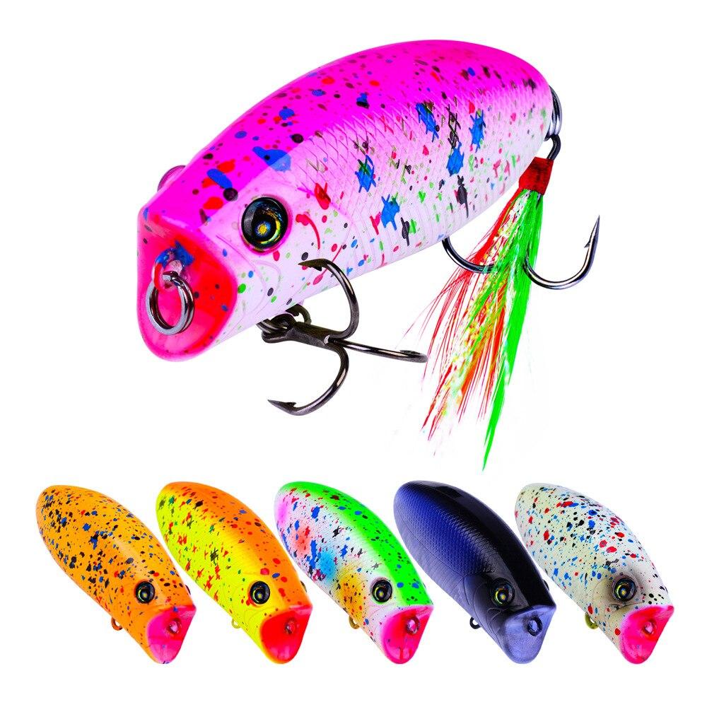 1PCS mini popper lure 5.7CM 10G lures trout ultralight fishing topwater bait finesse Crankbait Wobbler Minnow Isca Popper
