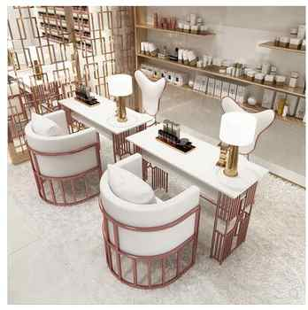 Net red manicure table special price economic single double three person iron manicure table manicure table - DISCOUNT ITEM  27 OFF Furniture