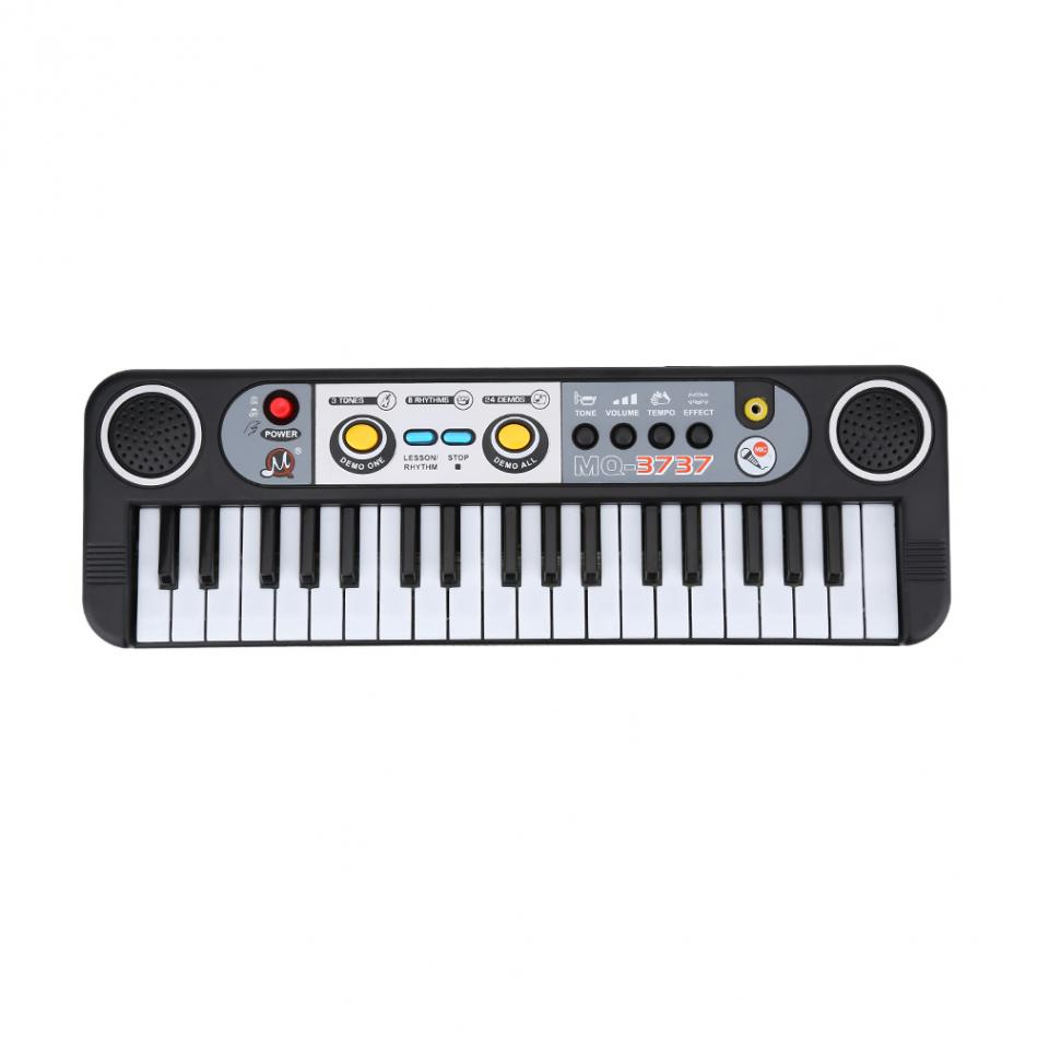 37-Key Electronic Organ Digital Key Board Piano Musical Instruments Kids Toy With Microphone