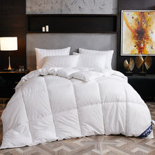 High grade White Goose/Duck Down Comforter Duvet Winter Quilt Blanket Filler with Cotton Cover Twin Full Queen King Size(China)