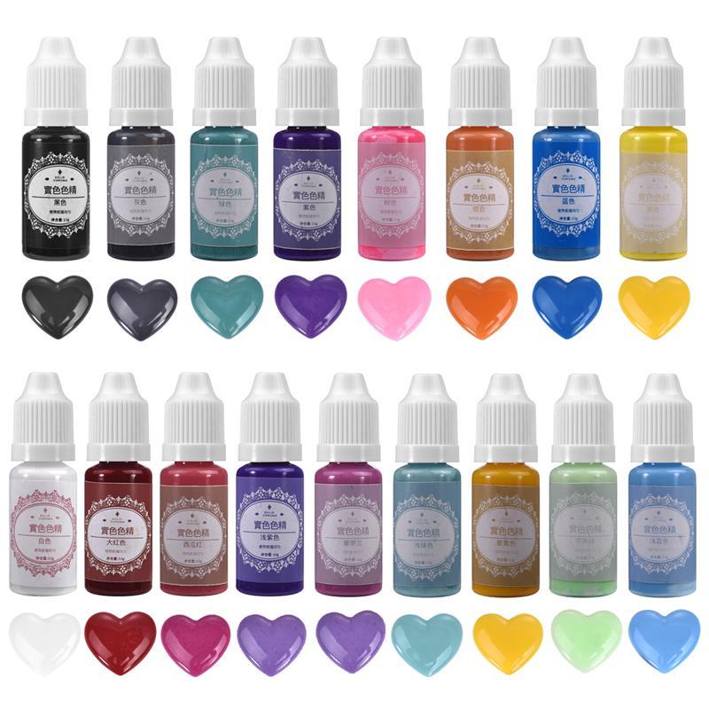 17 цветов 10 г жидкая твердая Хромовая цветная полимерная пигментная краска УФ-смола эпоксидная смола DIY Изготовление поделок аксессуары для ...