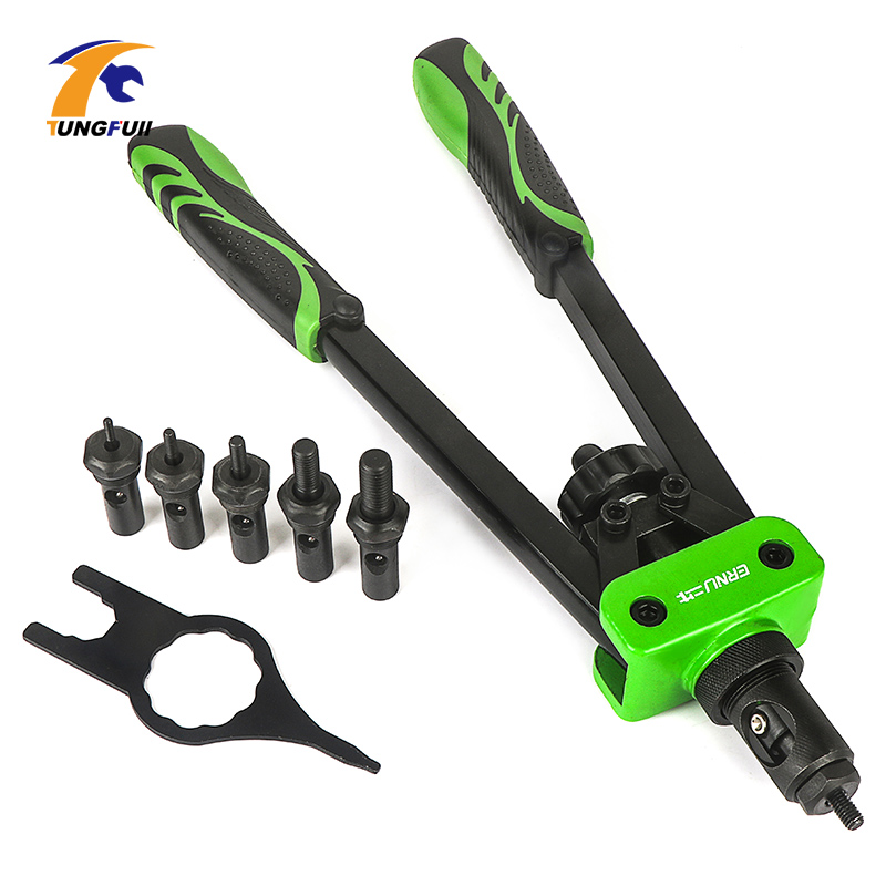 Hand Rivet Nut Gun Riveting Kit Nuts Nut Tool Manual Mandrels Blind Rivet Nut Gun M3 M4 M5 M6 M8 M10 Repair Tools