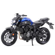 Maisto 1:18 2018 Yamaha MT07 статические литые транспортные средства коллекционные хобби мотоцикл модель игрушки