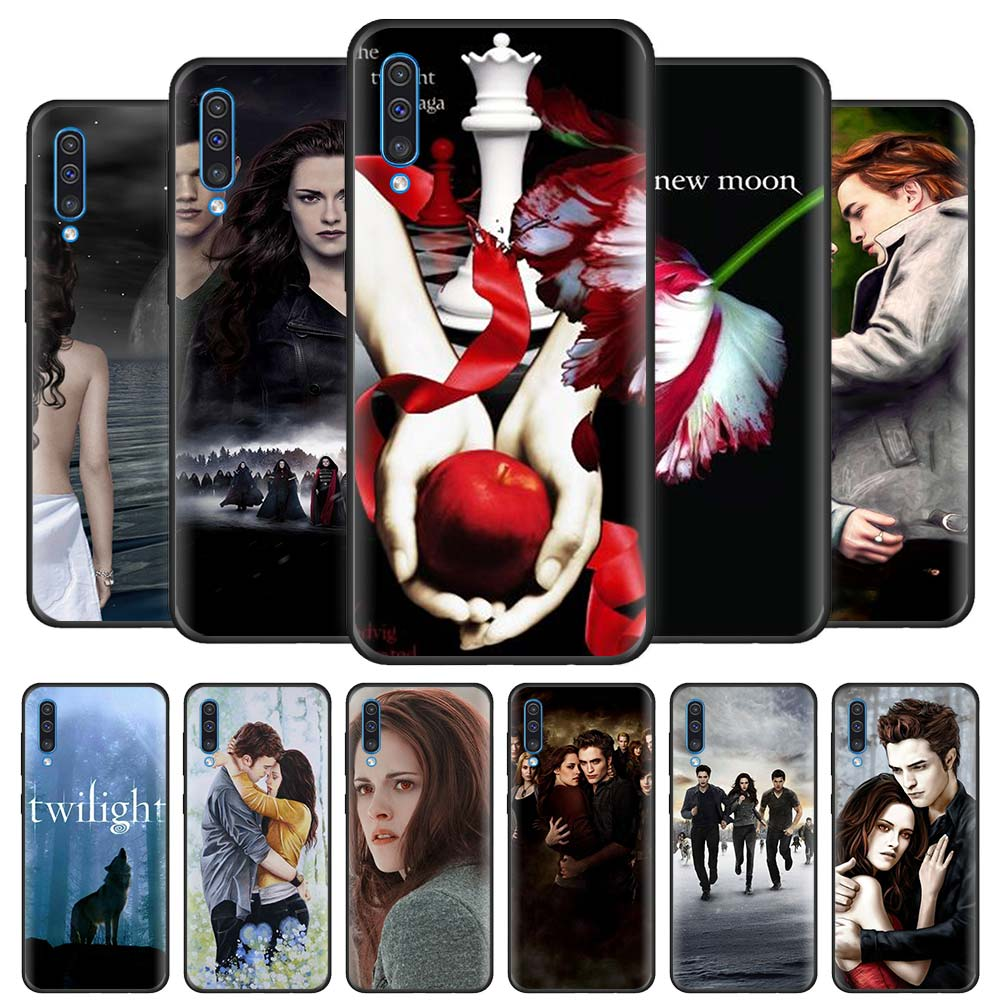 Twilight Saga <font><b>Case</b></font> for <font><b>Samsung</b></font> Galaxy A70 A50 A90 5G <font><b>A40</b></font> A30 A20 A70s A10 s A20e A10e Black Silicone Phone Cover image
