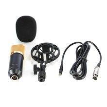 BM 700 profesjonalne Studio nadawanie i mikrofon do nagrań zestaw czapka z pianki śpiewanie nagrywanie głosu z amortyzacją Pk BM 800
