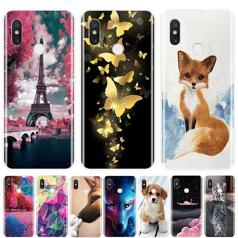 Carino Animali Cassa Del Telefono Del Silicone per Xiao Mi Mi 5 5C 5S 5X6 6X Più Morbida di Tpu copertura Posteriore per Xiao Mi Mi A1 A2 Lite 8 Se