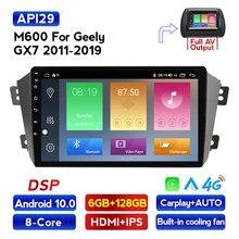 Android10 6GB RAM 128GB ROM Auto radio gps kassette für Geely Emgrand X7 1 GX7 EX7 2011 - 2019 mit IPS DSP wifi 4G LTE
