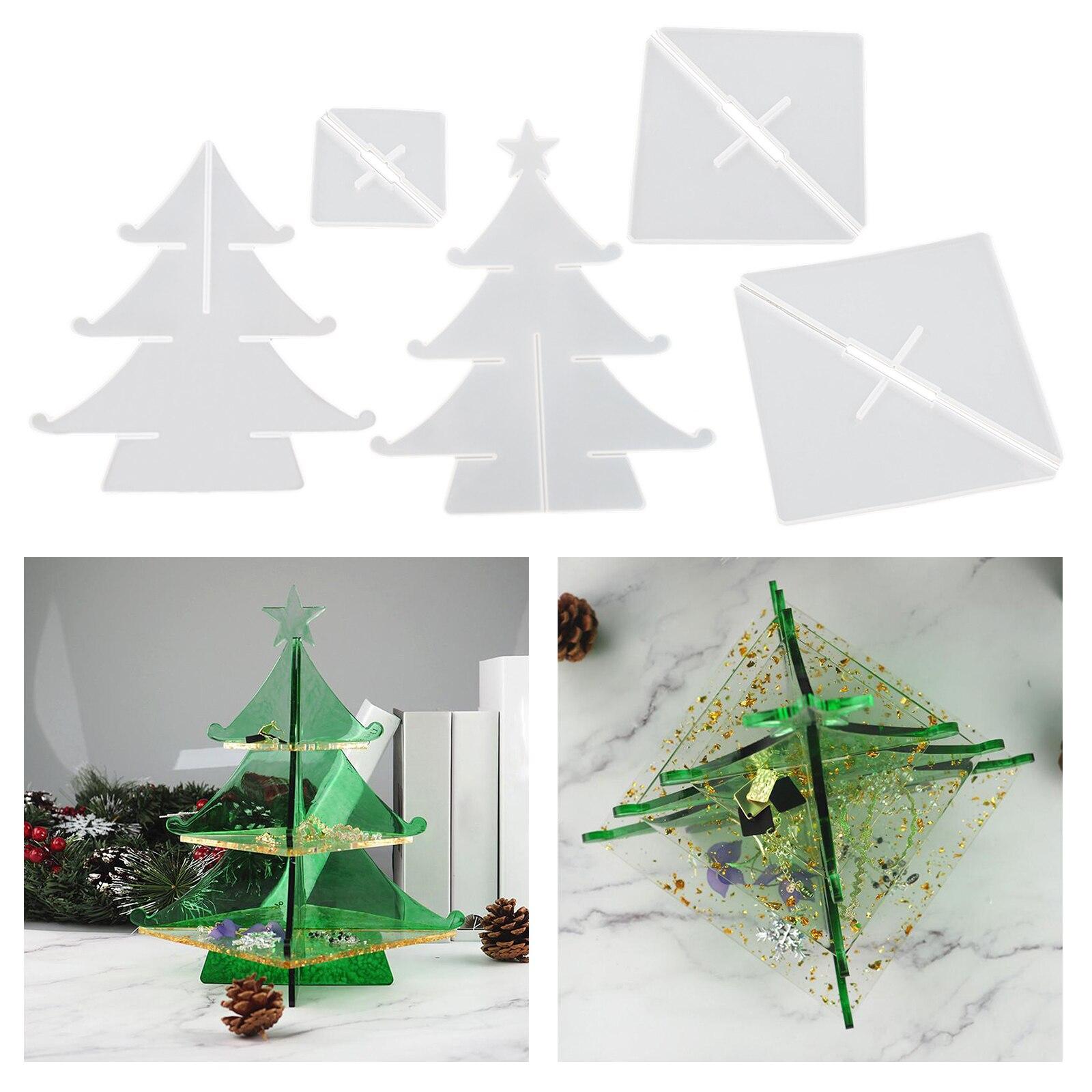Купить прозрачная рождественская форма дерева силиконовая смола художественные