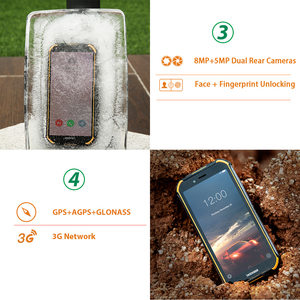 Image 4 - New DOOGEE S40 lite Rugged Android 9.0 Mobile Phone 5.5 inch Display 4650mAh MT6580 Quad Core 2GB RAM 16GB ROM 8.0MP IP68/IP69K