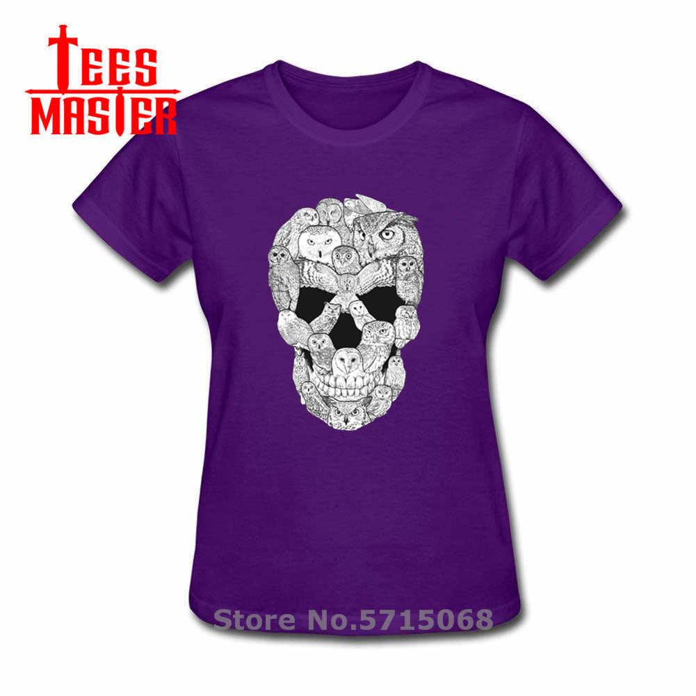 Camiseta con diseño creativo de calavera de búho de Harry Hardcore, divertida camiseta con estampado de animales, camiseta de moda de películas clásicas, camiseta ajustada para mujer