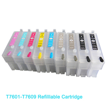 Vilaxh Refillable Ink for Epson P600 T7601 T7602 T7603 T7604 T7605 T7606 T7607 T7608 T7609 with auto reset chips
