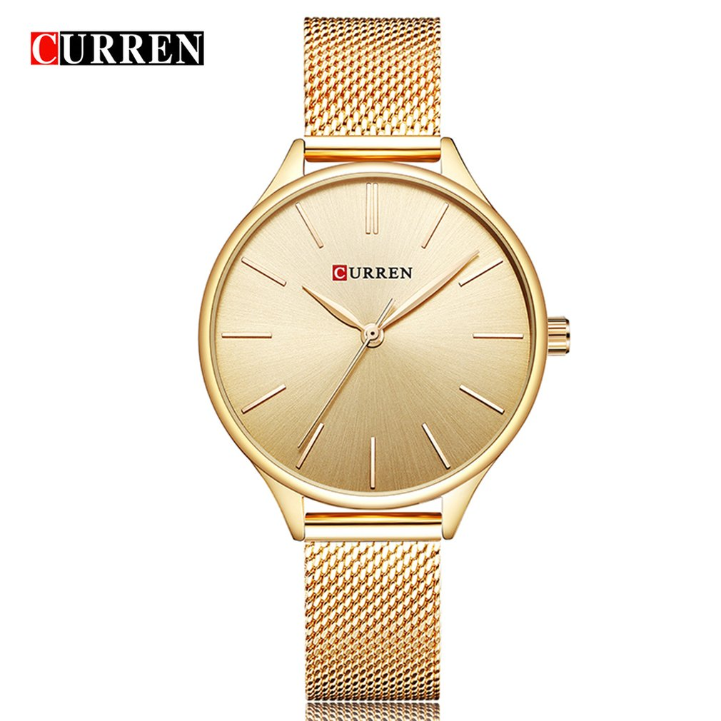 Carrian Women'S Watch Net With Watch Waterproof Casual Watch Ultra-Thin Quartz Watch Fashion Watch