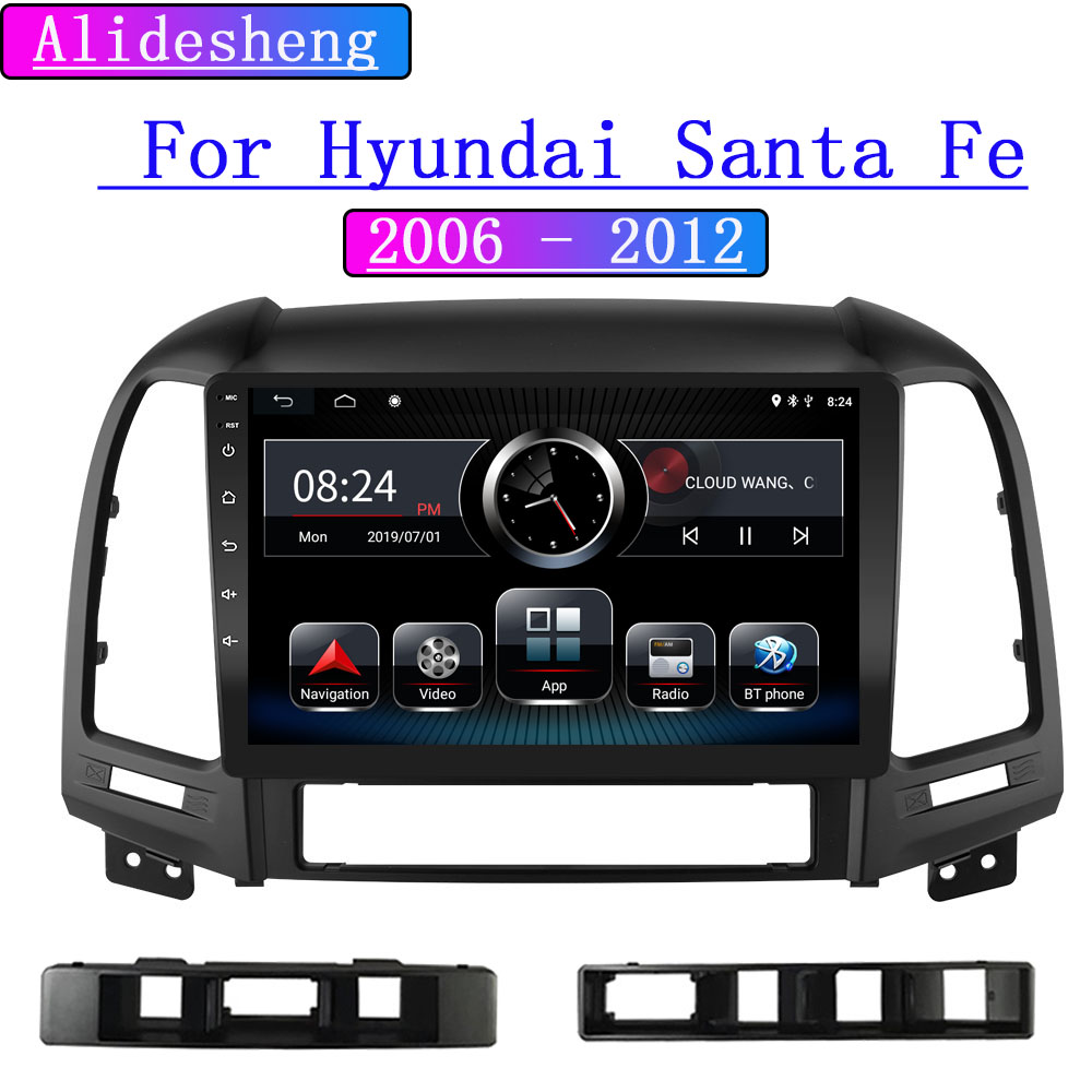 For Hyundai Santa Fe 2 Android 9.0 DSP Car Radio Multimedia Video Player 2006 2012 radio Navigation GPS|Car Multimedia Player|   - AliExpress