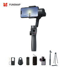 Funsnap Capture2 3 Axis Handheld Gimbal Stabilizer Voor Smartphone Samsung Iphone X Xr 8 7 Gopro Camera Actie Eken 1 gimbal Kit(China)