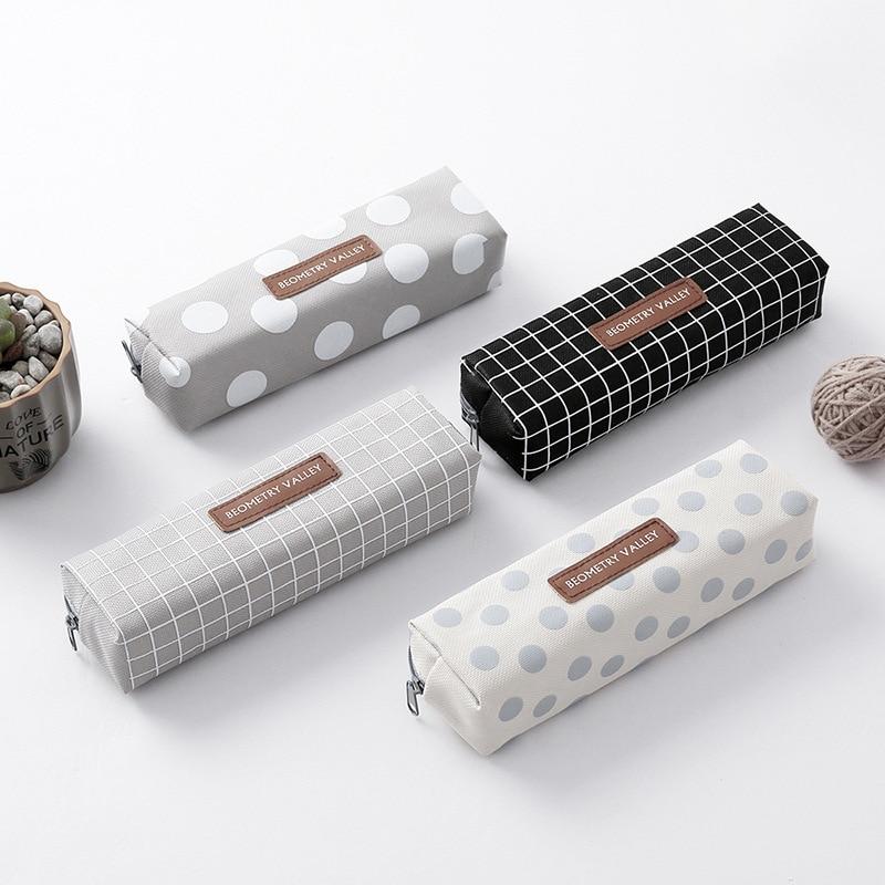 Милый кавайный холщовый чехол карандаш, вместительные сумки карандаши с милыми буквами, сумки карандаши для девочек, подарок, школьные принадлежности, корейские Канцтовары|Пеналы| | АлиЭкспресс