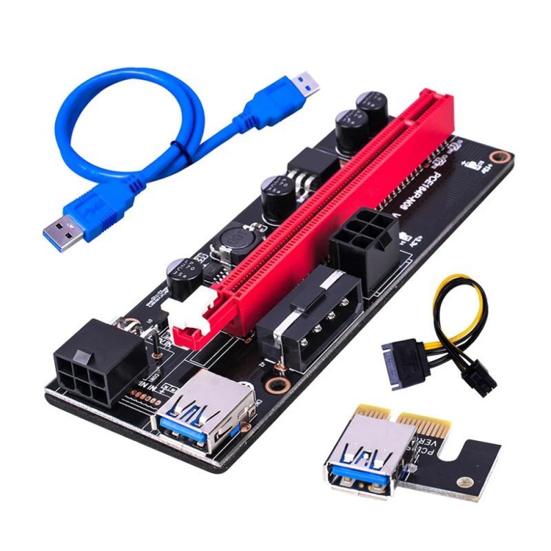 Кабель питания 15-6 контактов USB 3,0 Pci-E Райзер Ver 009S Экспресс 1X 4X 8X 16X Райзер адаптер карта Sata компьютерные кабели