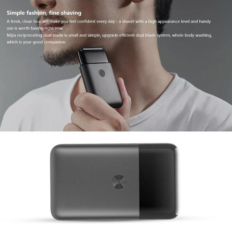 Xiaomi Mijia Electric Razor 2 Blade Shaver USB Rechargeable Smart Mini Wet Shaving Washable Beard Trimmer Mens Travel
