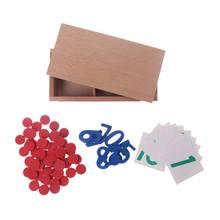 Brinquedo do bebê montessori cartões e contadores número matemática educação pré-escolar formação crianças brinquedos brinquedos jugu may17_35