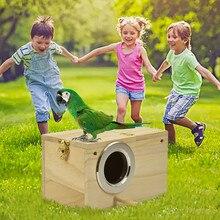 Коробка для разведения птиц из натурального дерева птичий Домик гнездо для разведения попугая декоративные клетки аксессуары для домашних животных украшение для домашнего балкона