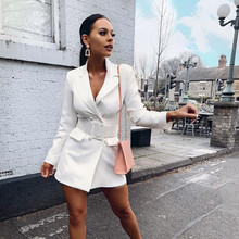 Autumn Winter Suit Blazer Women 2019 New Double Breasted Poc