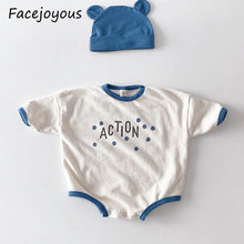 Newborn Girl Bodysuits Summer Infant Cotton Long Sleeve Baby Clothing Jumpsuit Boy Body Tops + Hat Baby Girl Clothes(China)