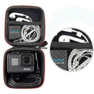 Image 3 - Mini Bag Portable Shockproof Storage box Compact waterproof Case For Gopro Hero 9 8 7 6 5 4 3 SJCAM Xiaomi Yi 4K Action Camera